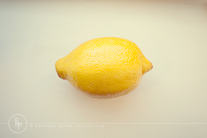 Kameron Bayne Images - personal art of a yellow lemon - a metaphor for our new baby